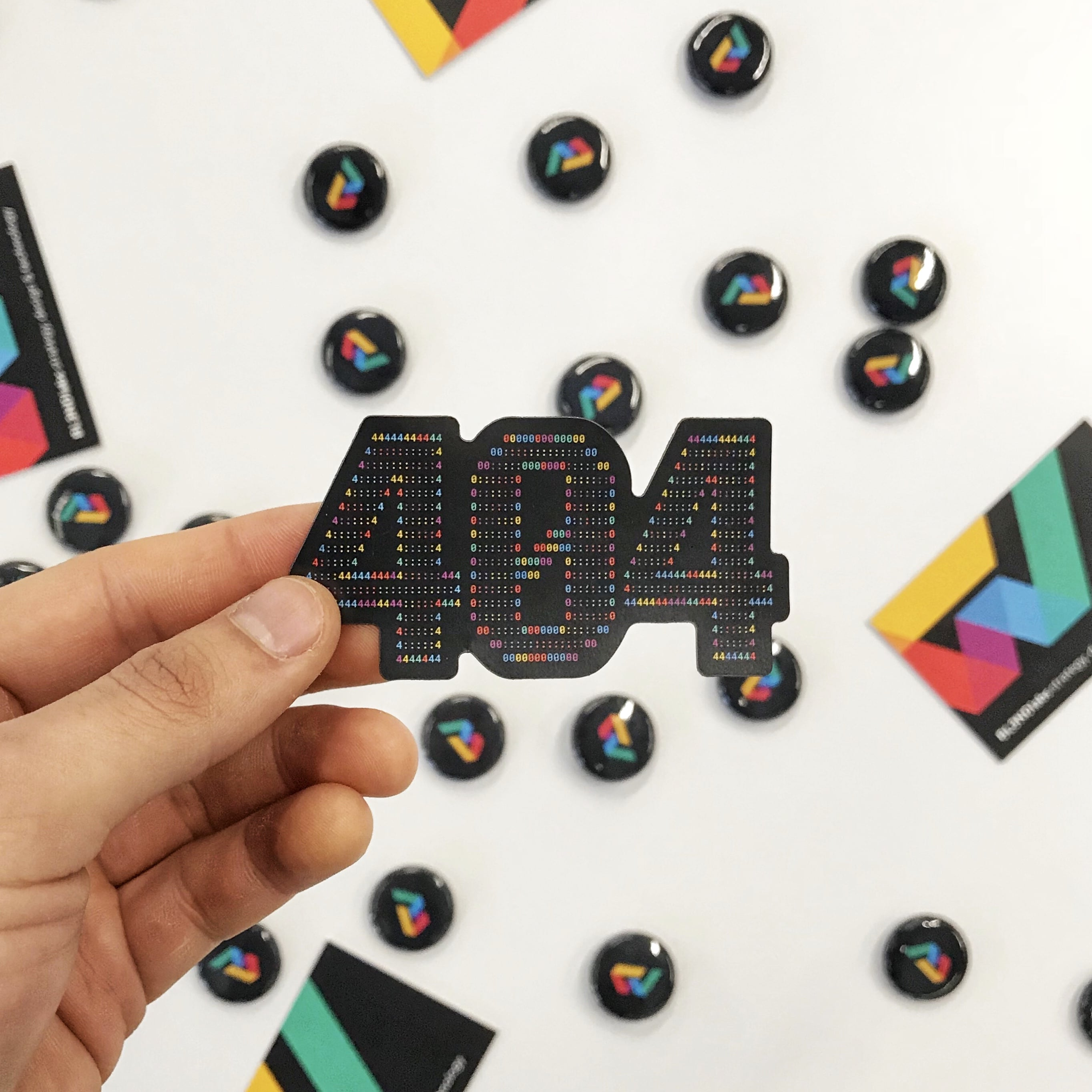 BL3NDlabs 404 Sticker and Pins